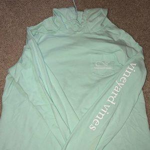 Long sleeve slub whale hoodie